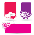 hearts banner vector image