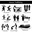 human trafficking stick figure pictogram icons a vector image vector image