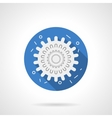 Influenza icon blue round flat icon vector image vector image
