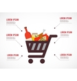 infographics of shopping cart with rosh hashanah vector image