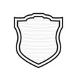isolated security shield vector image vector image