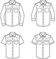 jean shirt set vector image vector image