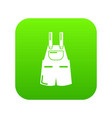 jumpsuit icon green vector image