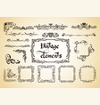 kit of vintage elements for invitations banners vector image vector image