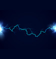 lightning and flash thunderbolt effect bright vector image vector image