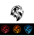 lion head - sign concept vector image vector image