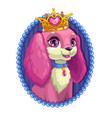 little cute cartoon fluffy dog portrait vector image vector image
