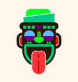 mask idol icon cartoon of mask idol icon vector image