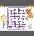 maze activity game for kids vector image vector image