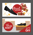 men summer black shoe flyers vector image vector image