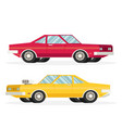 muscle car flat styled vector image