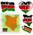 national colours of Kenya vector image vector image