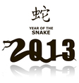 New Year Snake 2013 vector image vector image