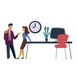 office workers professional relationships man and vector image vector image