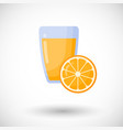 orange juice flat icon set vector image vector image