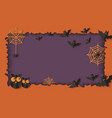 paper cut layers in halloween frame with owls and vector image