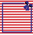 Patriotic background for Fourth of July vector image vector image