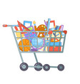 purchase goods shopping cart preparation education vector image vector image