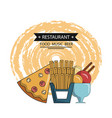 restaurant food and dining design vector image