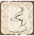 retro coffee cup vector image