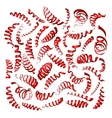 ribbons on white background vector image vector image