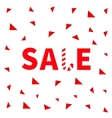 Sale red text Candy cane banner advertising vector image