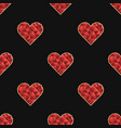 seamless pattern with polygonal red heart vector image vector image