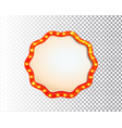 shining isolated retro bulb light circle frame vector image