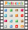 shopping and e-commerce icon set vector image vector image