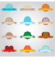 simple color blank banners with ribbons set eps10 vector image vector image