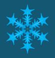 snowflake logo vector image vector image
