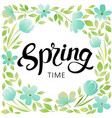 spring wreath frame vector image vector image