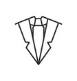 suit and tie line icon sign vector image