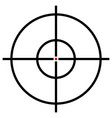target symbol isolated on white accuracy