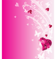 Valentine place card vector image