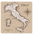 vintage map italy vector image