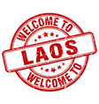 welcome to laos vector image vector image