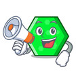 with megaphone octagon character cartoon style vector image vector image
