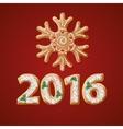 Traditional Christmas gingerbread 2016 greeting vector image