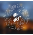 vintage abstract banner party vector image