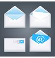Envelopes icons set vector image