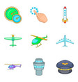 aerodrome icons set cartoon style vector image vector image