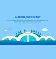alternative energy generation flat banner template vector image vector image