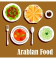 Arabian vegetarian lunch menu flat icon vector image vector image
