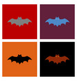assembly flat icons halloween bat vector image vector image