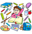 back to school collection 3 vector image vector image