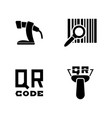barcode simple related icons vector image vector image