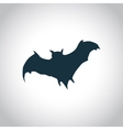 Bat black icon vector image vector image