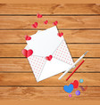 beautiful opened envelope with empty blank vector image