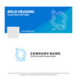 blue business logo template for exchange currency vector image
